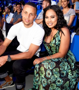 Stephen Curry and Ayesha Curry attend the Nickelodeon Kids' Choice Sports Awards 2016 at UCLA's Pauley Pavilion in Westwood, California.