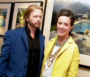 David Spade and Kate Spade attend a gallery 2006 exhibition of photographer Slim Aarons' work curated by Kate Spade at Fred Segal Cafe in Los Angeles, California.