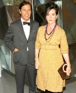 Andy Spade and Kate Spade attend SWAROVSKI Private Dinner to Honor the 2006 CFDA Nominees at Top of the Rock oin New York City.