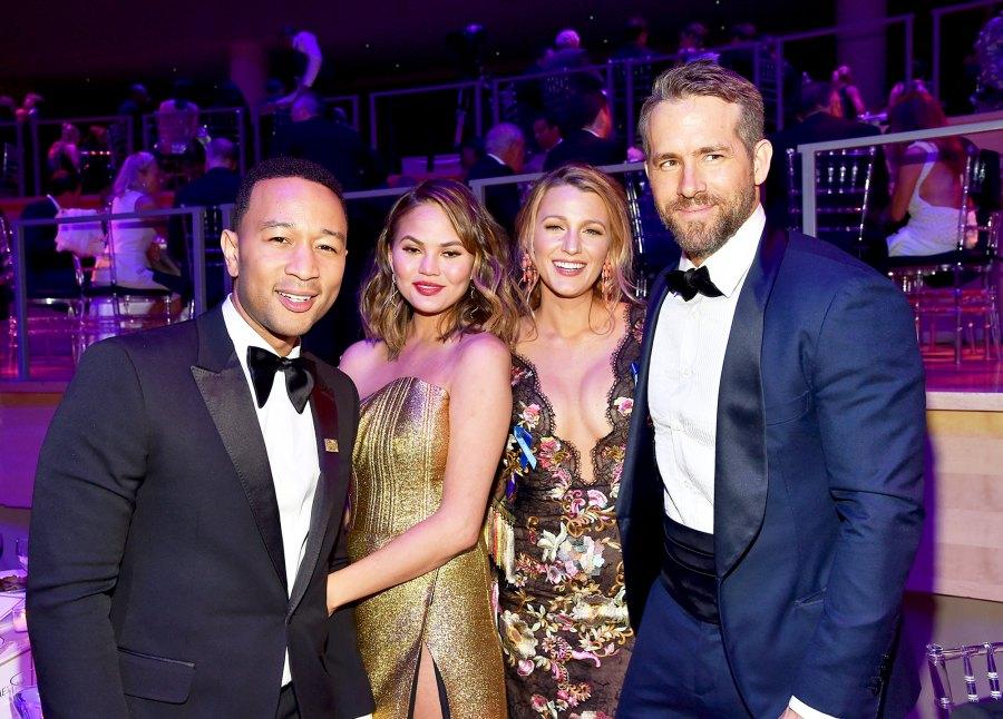 John Legend, Chrissy Teigen, Blake Lively and Ryan Reynolds Gallery