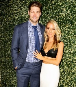 "Jay Cutler and Kristin Cavallari attend the 2017 launch event for ""Uncommon James"" at Fig & Olive in West Hollywood, California."