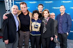 Jeffrey Tambor, Will Arnett Alia Shawkat Jason Bateman, Jessica Walter, David Cross and Tony Hale at SiriusXM's Town Hall with the cast of Arrested Development at SiriusXM Studio on May 21, 2018 in New York City.