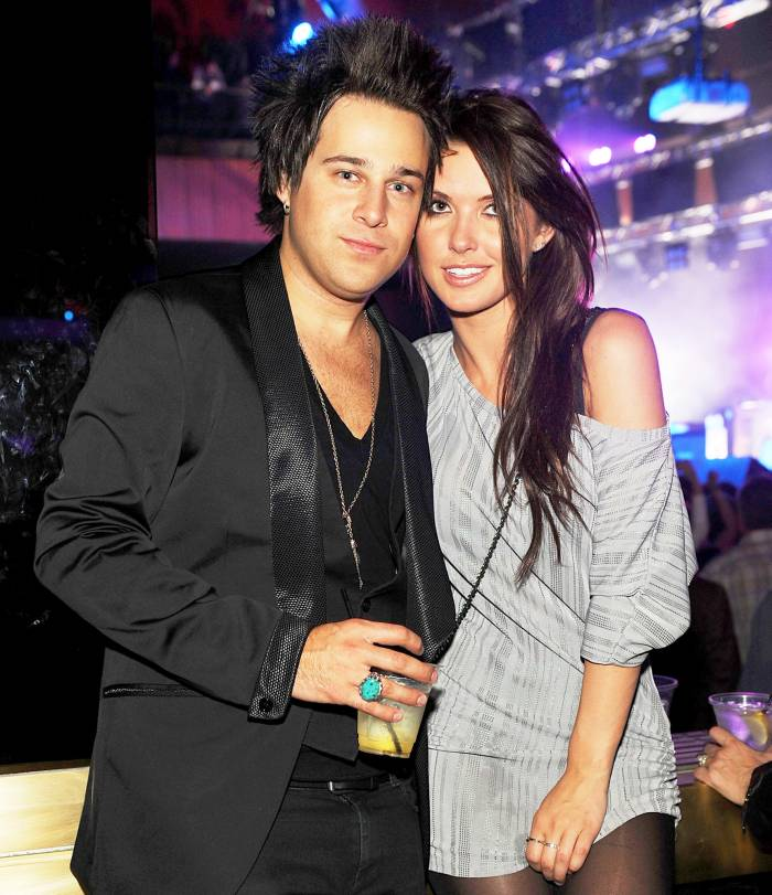Ryan Cabrera and Audrina Patridge attend the AG Adriano Goldschmied 2010 party at Rain Nightclub at The Palms Casino Resort in Las Vegas, Nevada.