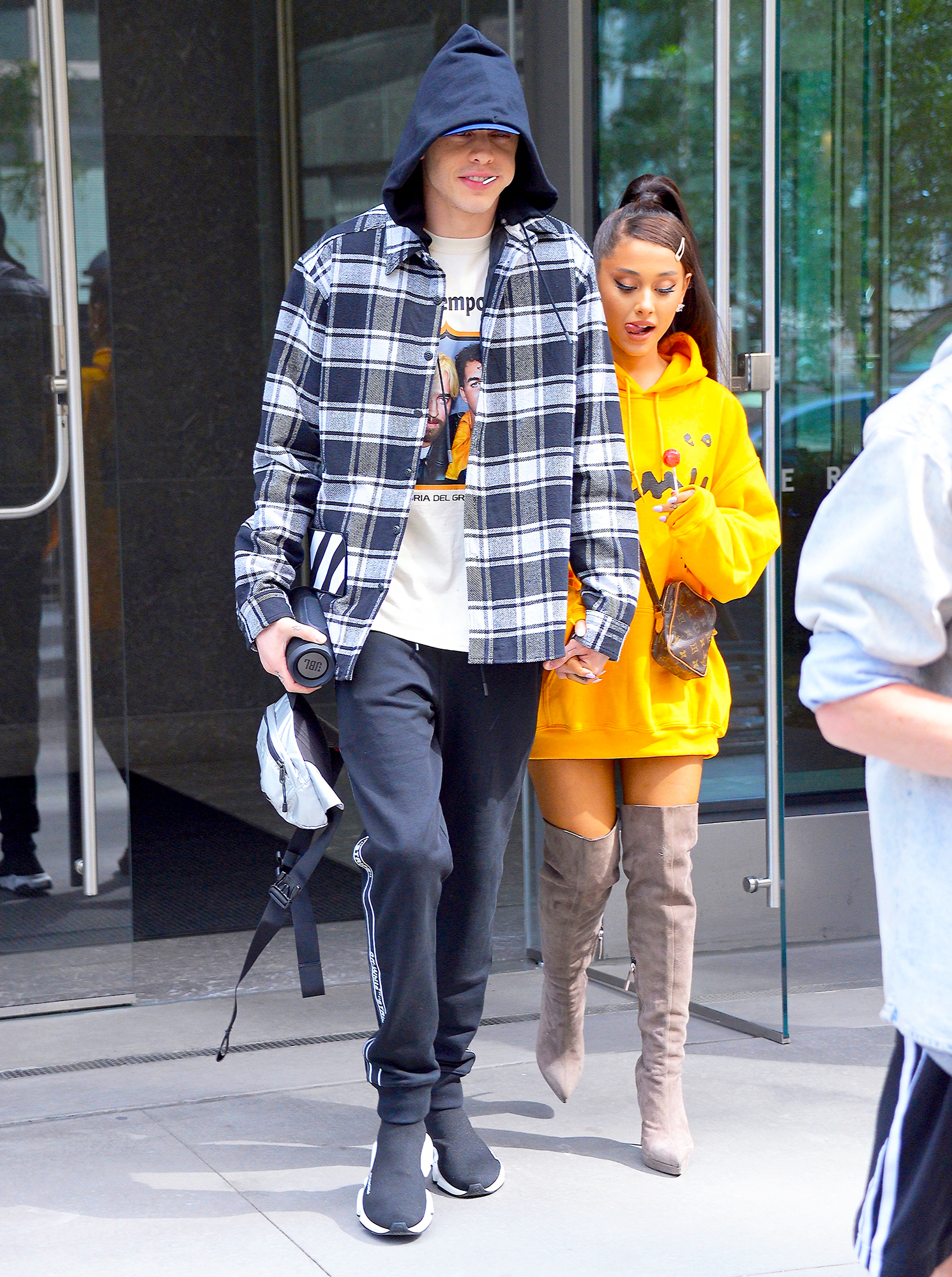 Ariana Grande and Pete Davidson step out on June 20, 2018 in New York City.