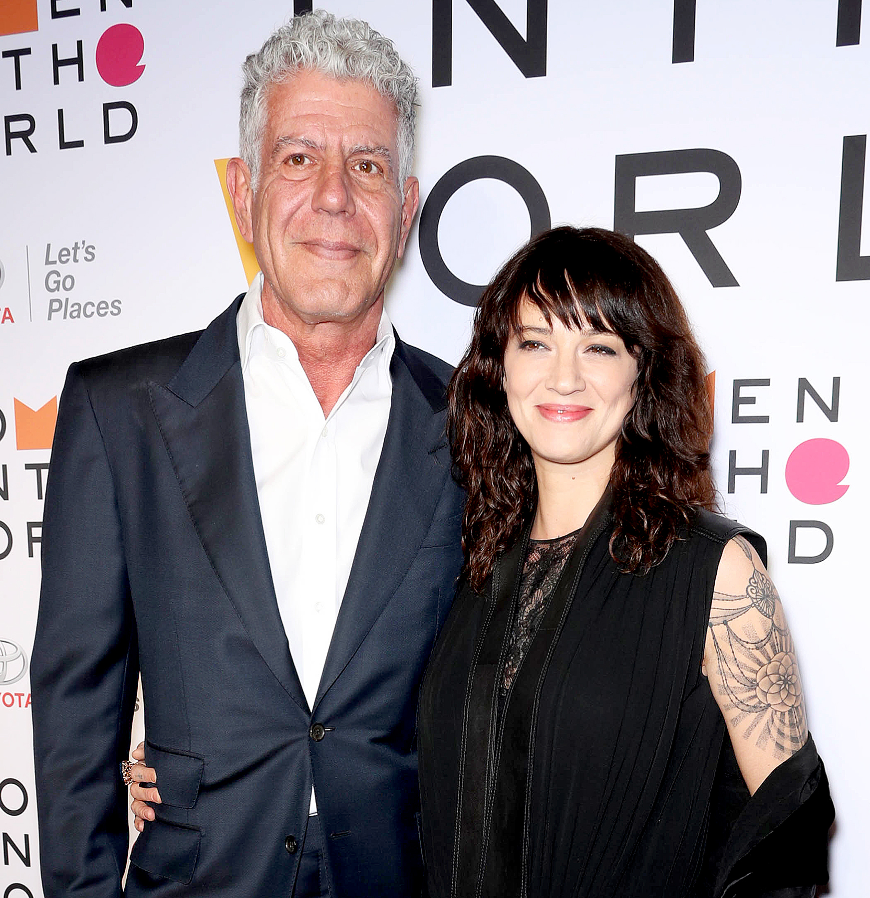 Anthony-Bourdain,-Asia-Argento - Anthony Bourdain and Asia Argento attend The 2018 Women in the World Summit, at David H. Koch Theater at Lincoln Center.