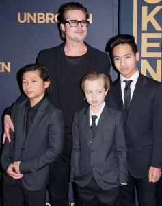 Brad Pitt, Father's Day, Pax Thien Jolie-Pitt, Shiloh Nouvel Jolie-Pitt, Maddox Jolie-Pitt