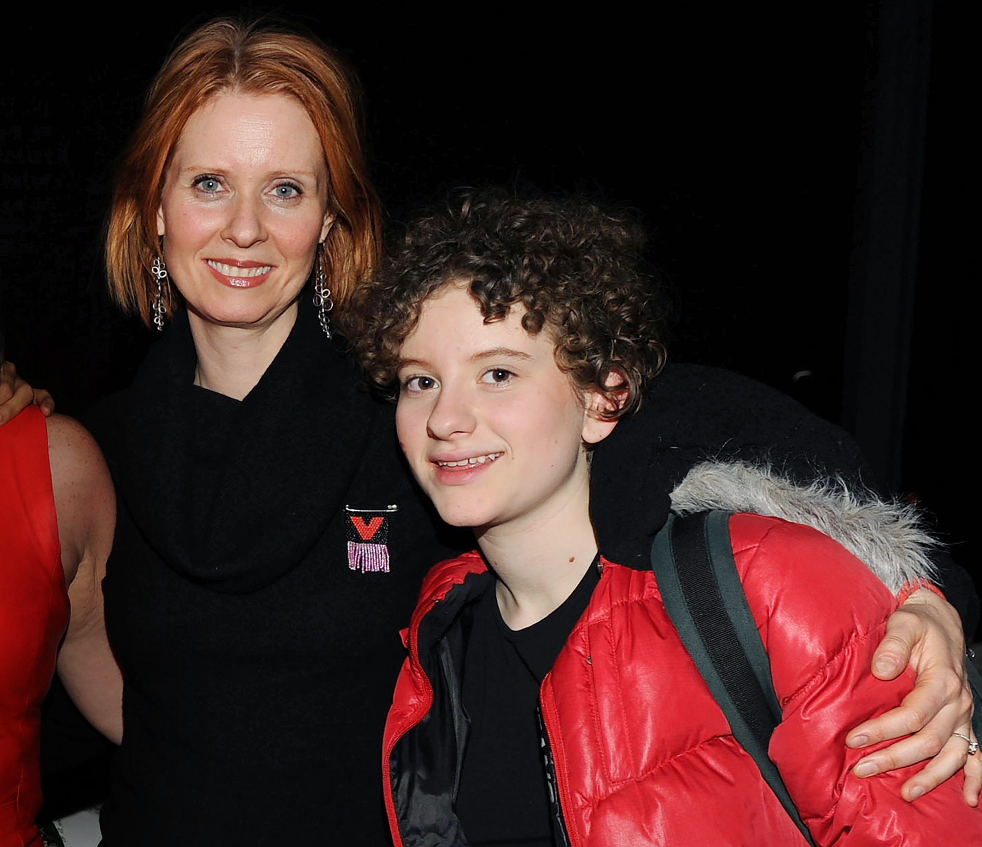 Cynthia Nixon, Samantha, Transgender, Son, Samuel - Cynthia Nixon and Samuel attend the V-Day benefit reading of Eve Ensler's new work 'I Am An Emotional Creature: The Secret Life Of Girls Around The World' at the Urban Zen Center At Stephan Weiss Studio on February 5, 2010 in New York City.