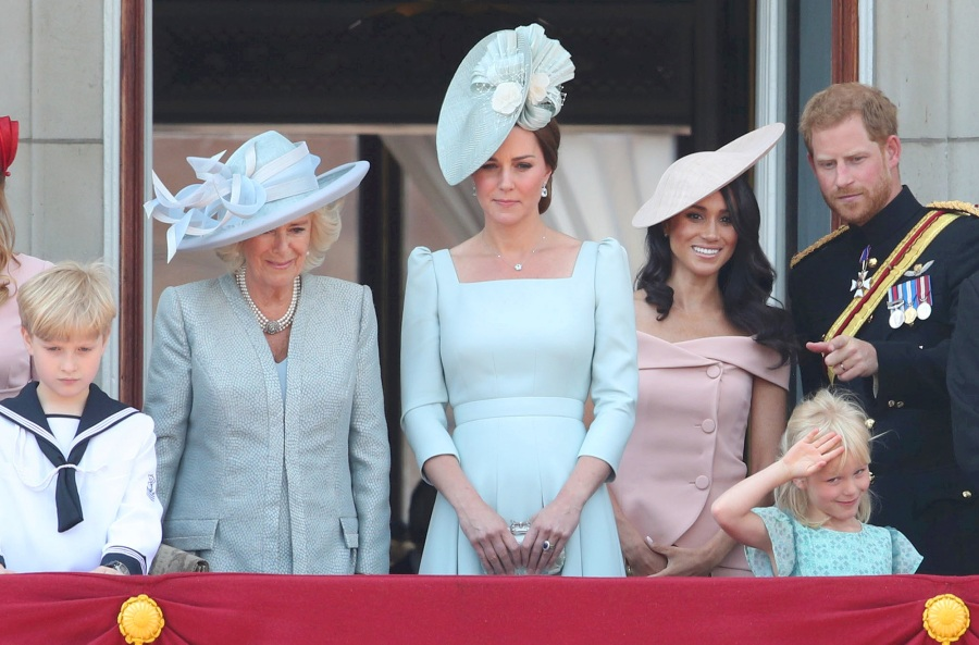 Duchess Camilla, Kate Middleton, Meghan Markle, Prince Harry, Trooping The Colour, Royal Family