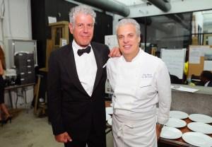 Chefs Anthony Bourdain and Eric Ripert