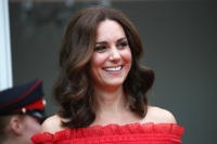 Kate Middleton Red Alexander McQueen Dress