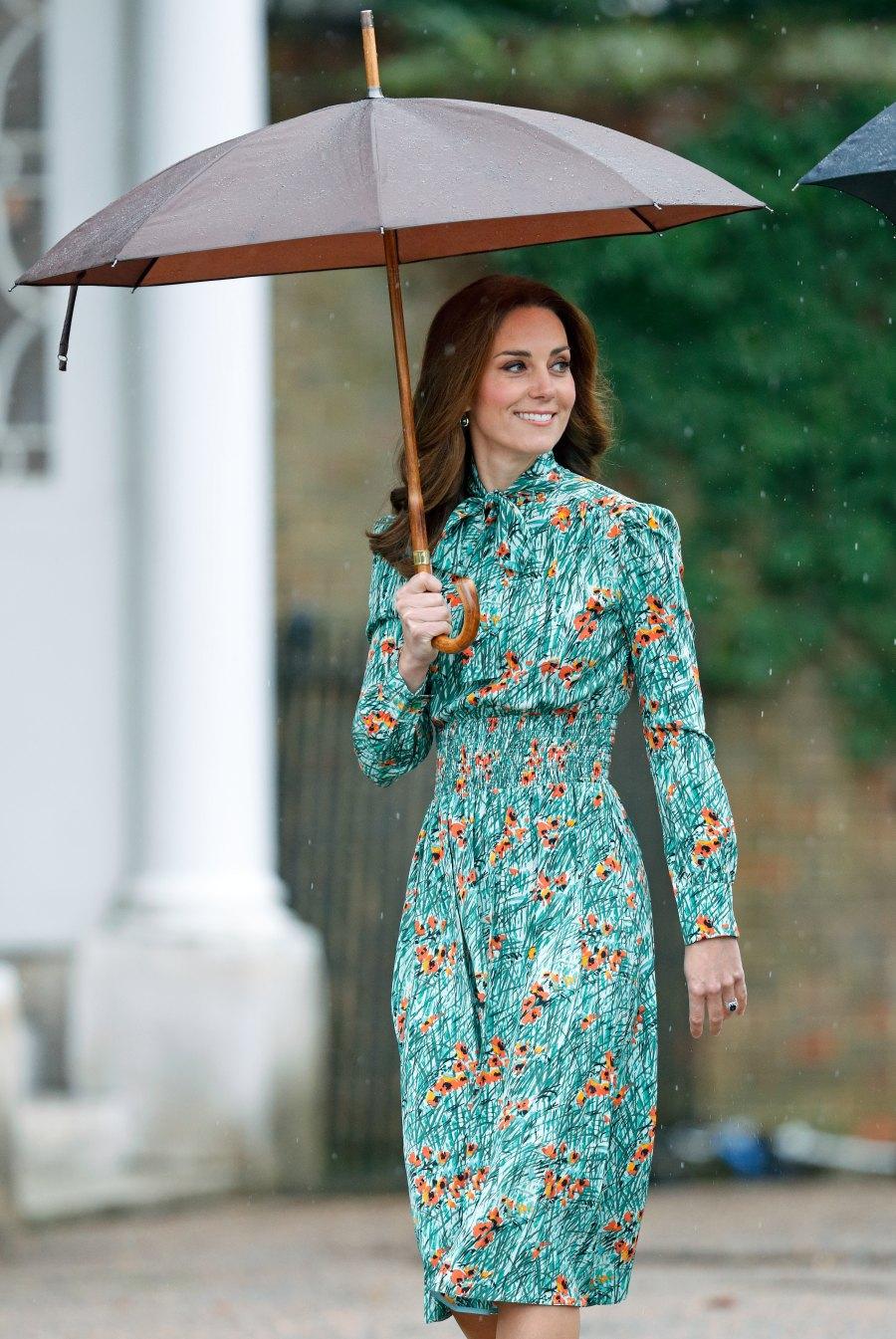 kate middleton floral long sleeve dress