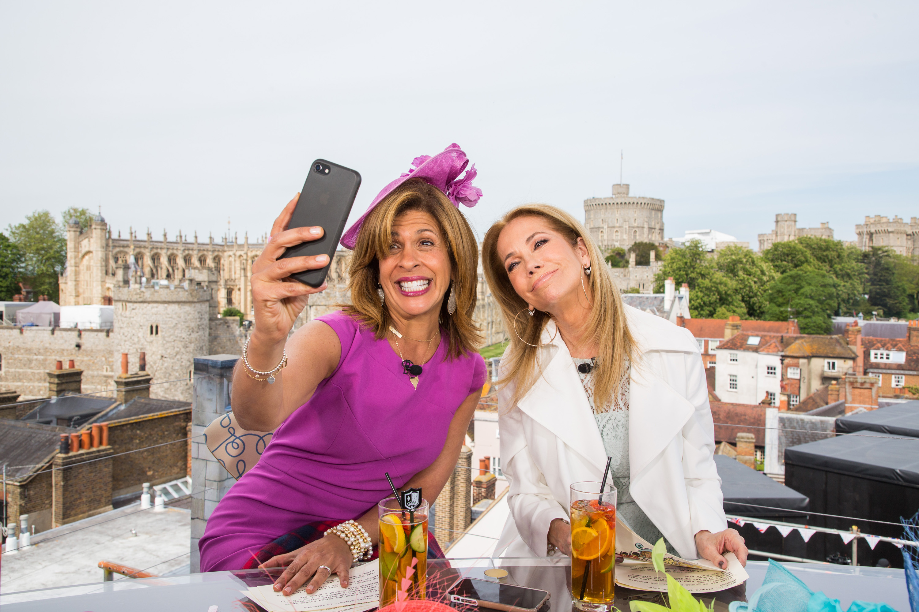 TODAY -- Pictured: (l-r) Hoda Kotb and Kathie Lee Gifford for the wedding of Prince Harry and Meghan Markle at Windsor Castle on Friday May 18, 2018 in Windsor, England. -- (Photo by: Nathan Congleton/NBC/NBCU Photo Bank via Getty Images) - TODAY — Pictured: (l-r) Hoda Kotb and Kathie Lee Gifford for the wedding of Prince Harry and Meghan Markle at Windsor Castle on Friday May 18, 2018 in Windsor, England.