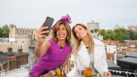TODAY -- Pictured: (l-r) Hoda Kotb and Kathie Lee Gifford for the wedding of Prince Harry and Meghan Markle at Windsor Castle on Friday May 18, 2018 in Windsor, England. -- (Photo by: Nathan Congleton/NBC/NBCU Photo Bank via Getty Images)