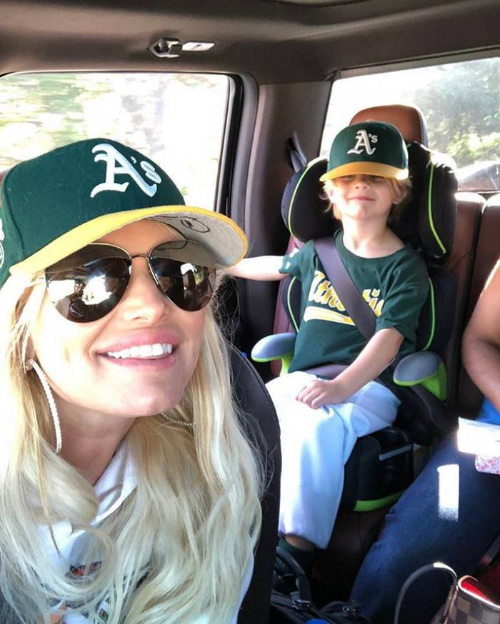 Jessica Simpson and son Ace