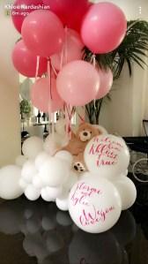 Khloe Kardashian, Tristan Thompson, Father's Day, True, Kylie Jenner, Stormi, Balloons, Snapchat