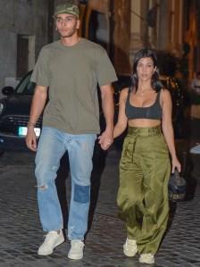 Kourtney Kardashian, Younes Bendjima, Rome, Capri, Vacation