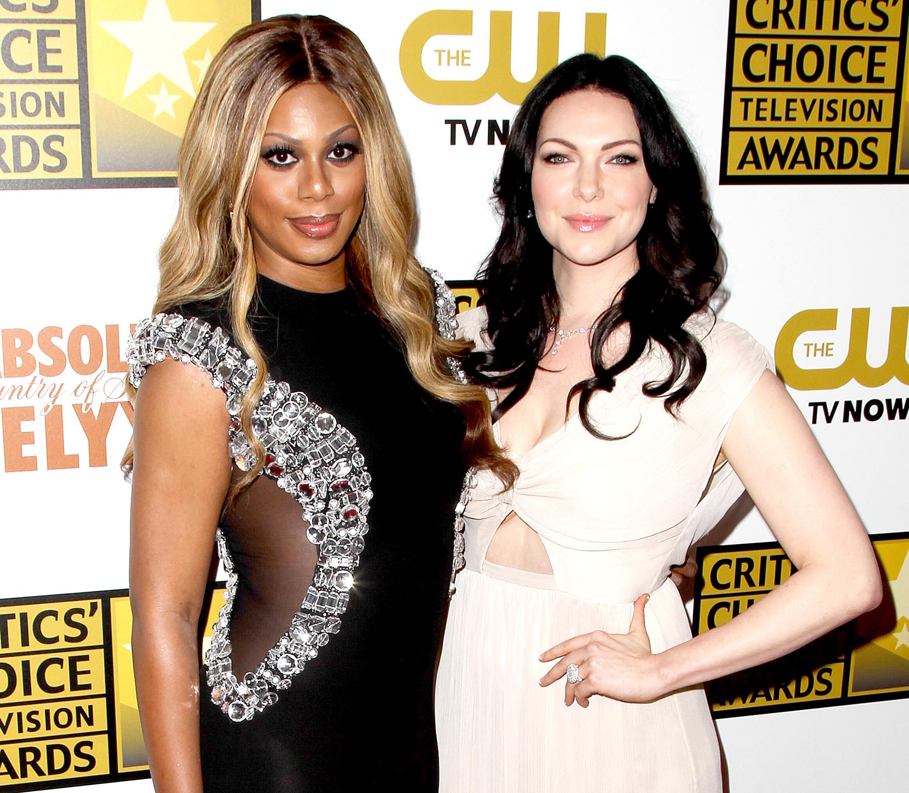 Laverne-Cox-Laura-Prepon - Laverne Cox and Laura Prepon arrive at The 4th Annual Critics' Choice TV Awards June 19th, 2014.