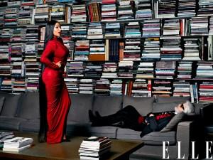 Nicki Minaj and Karl Lagerfeld in 'Elle'