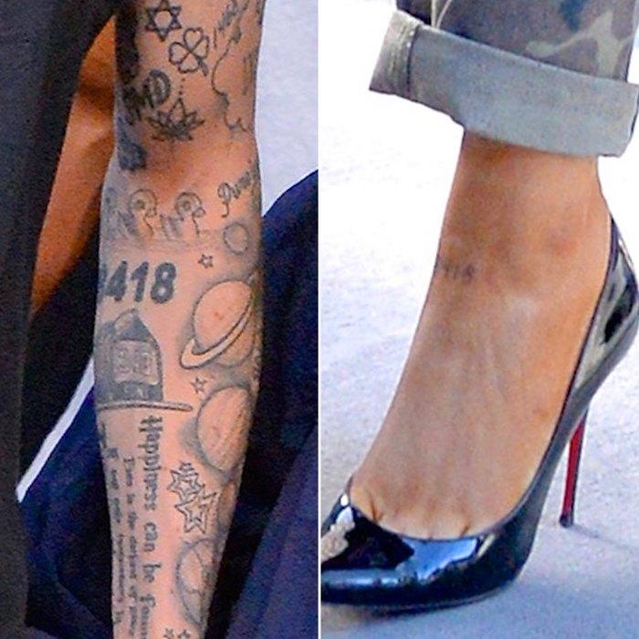 Pete Davidson, Ariana Grande, Matching Tattoo, 8418