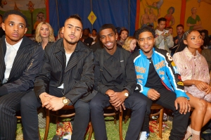 Quincy Brown, Christian Combs and Justin Dior Combs