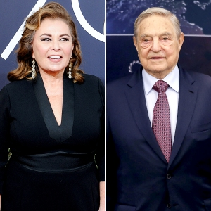Roseanne Barr and George Soros