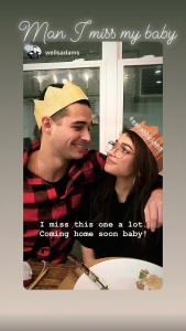 Sarah Hyland, Wells Adams, Hospital, Instagram Story