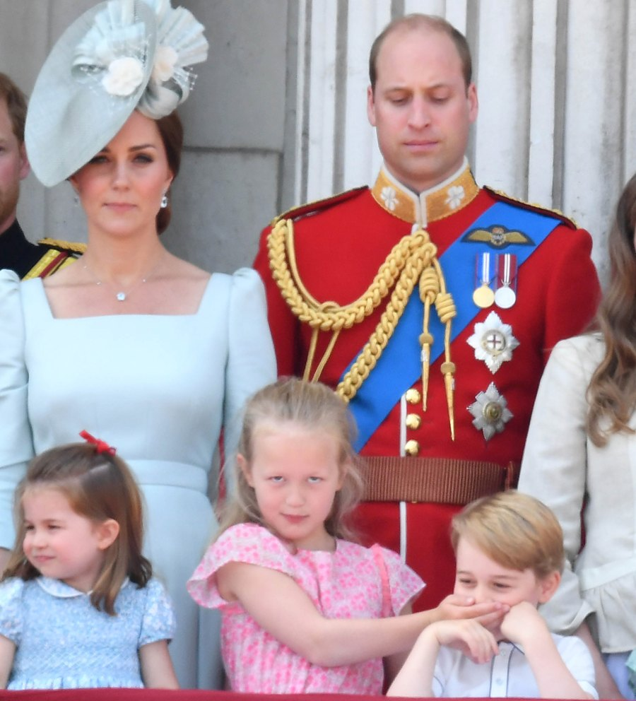 Savannah Phillips, Cover Mouth, Prince George, Prince William, Trooping The Colour, Royal Family