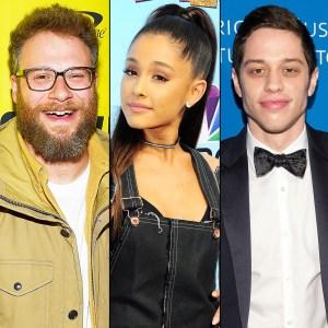 Seth Rogen, Ariana Grande and Pete Davidson