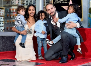 Zoe Saldana Talks Raising Sons in a 'Gender Neutral ...
