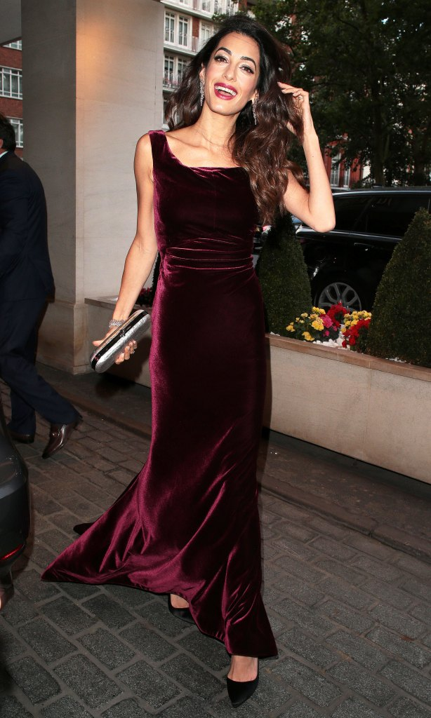 Amal Clooney And Beyonce Wear The Velvet Dress Trend