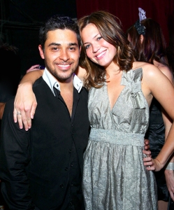Wilmer Valderrama and Mandy Moore celebrate New Year's Eve 2007 at Mansion nightclub in South Beach, Miami, Florida.
