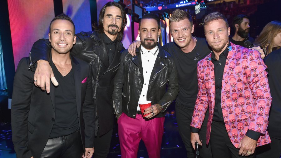 Howie Dorough, Kevin Richardson, A. J. McLean, Nick Carter, and Brian Littrell of music group Backstreet Boys.
