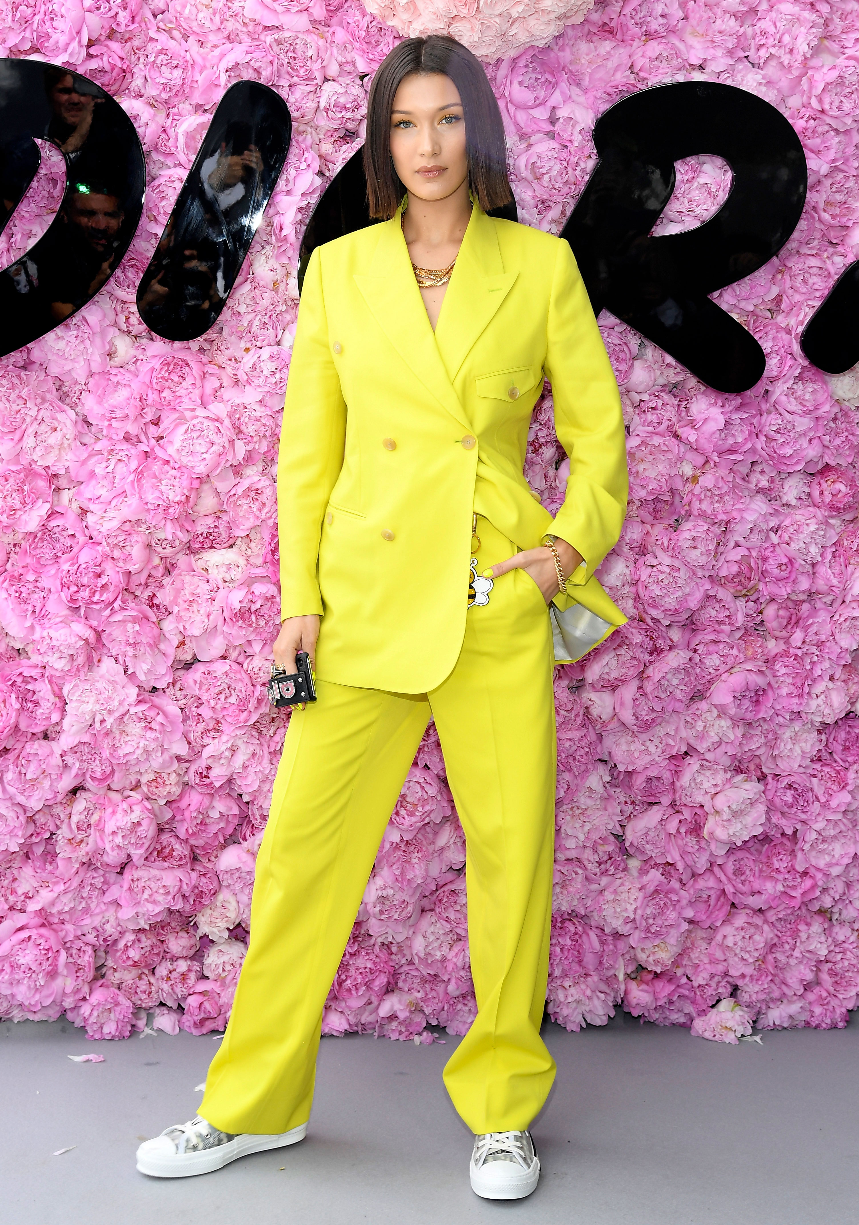 4ff2d178dce3ae Monochrome Yellow Outfit Fashion Trend: Gigi Hadid, More