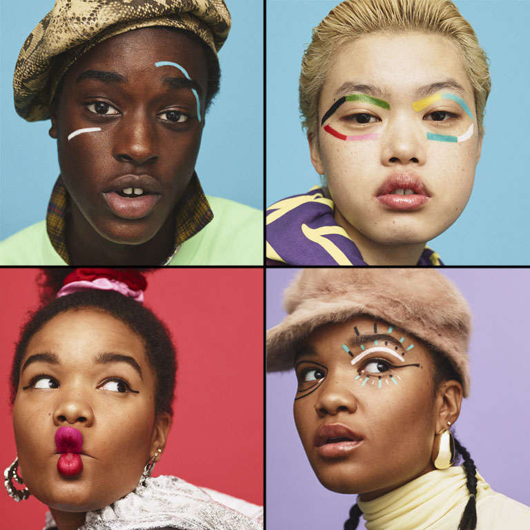 crayola x asos launch a colorful makeup line