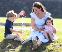 Duchess Kate Prince George Princess Charlotte Prince William Polo Match