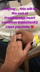 Tamara Judge husband Eddie heart surgery
