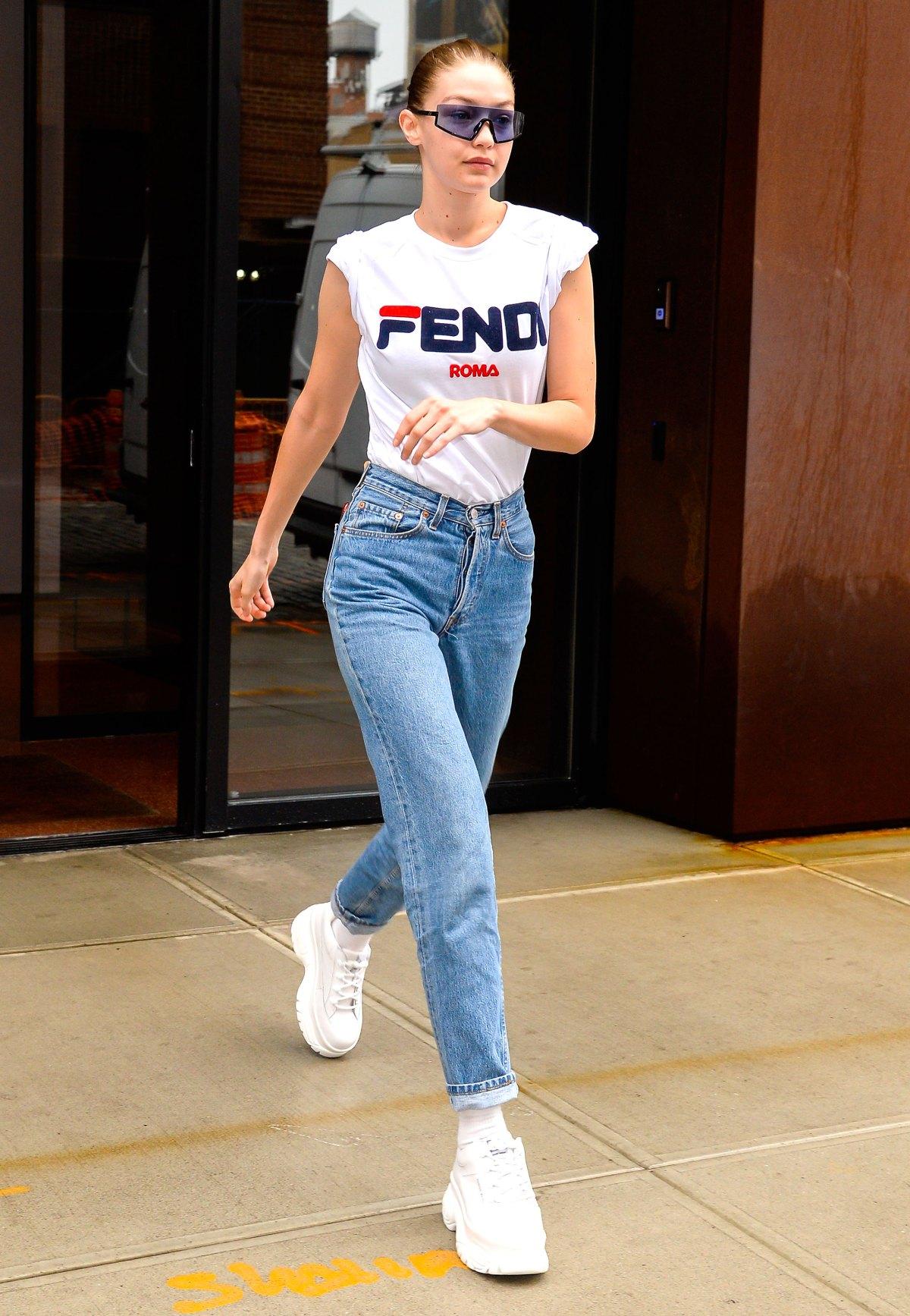 52b889df Gigi Hadid's Best 2018 Street Style Fashion: Pics