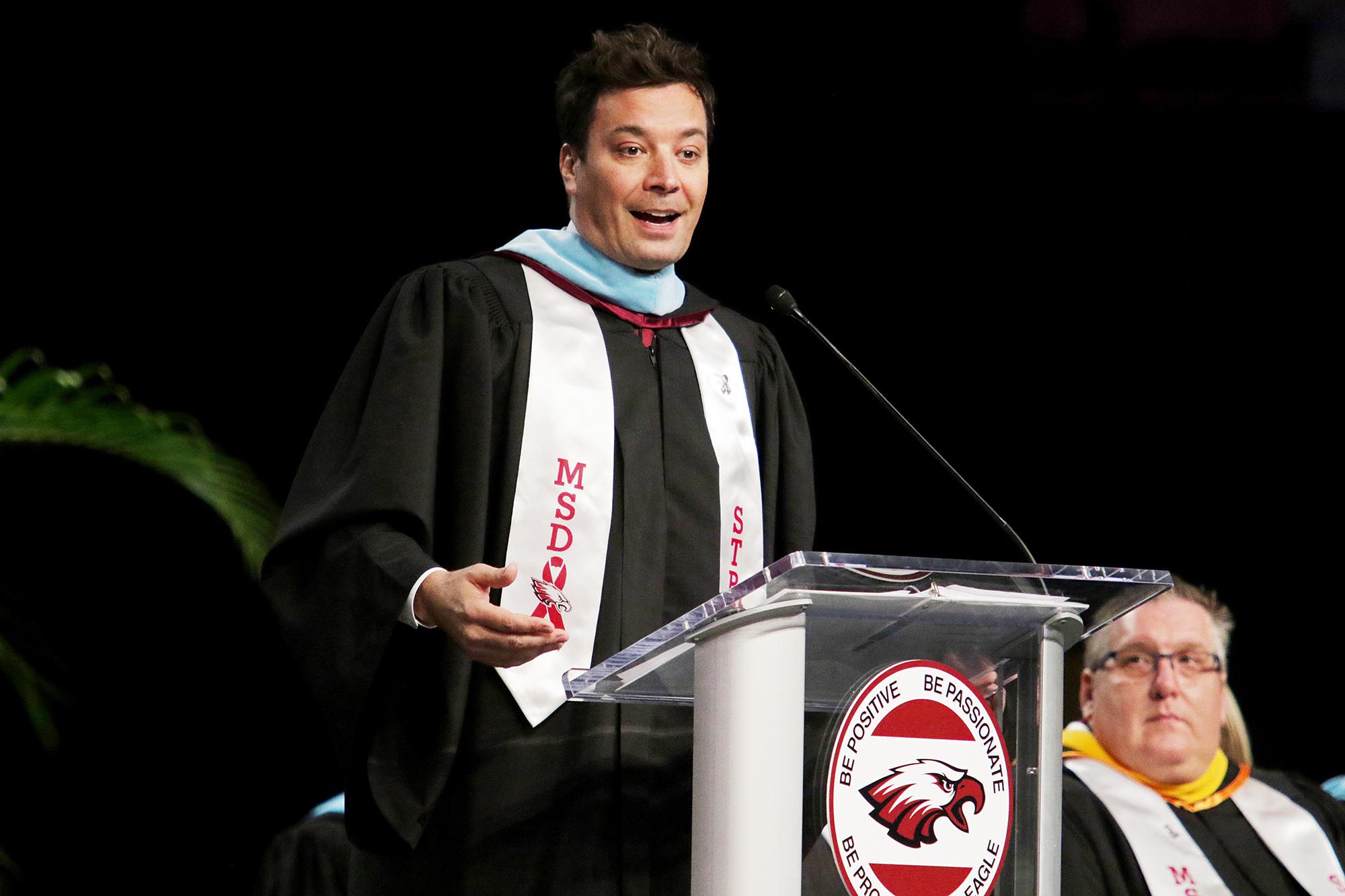 Jimmy Fallon Marjory Stoneman Douglas High School graduation speech