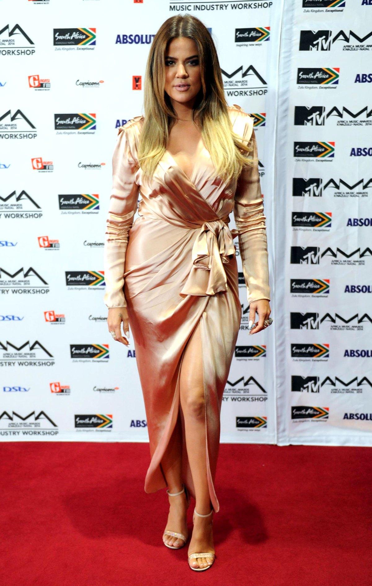 efb2f76354 Khloe Kardashians Red Carpet Dresses — BCMA