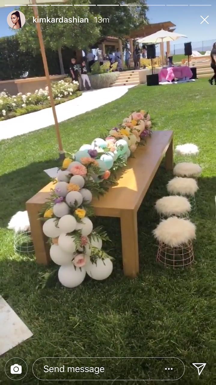 North West Penelope Kardashian Celebrate Birthdays At Unicorn Party