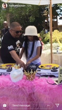 Kim Kardashian, North West, Penelope Disick, Birthday Party, Unicorn