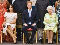 Prince Harry Duchess Meghan Queen Elizabeth Queen's Young Leaders