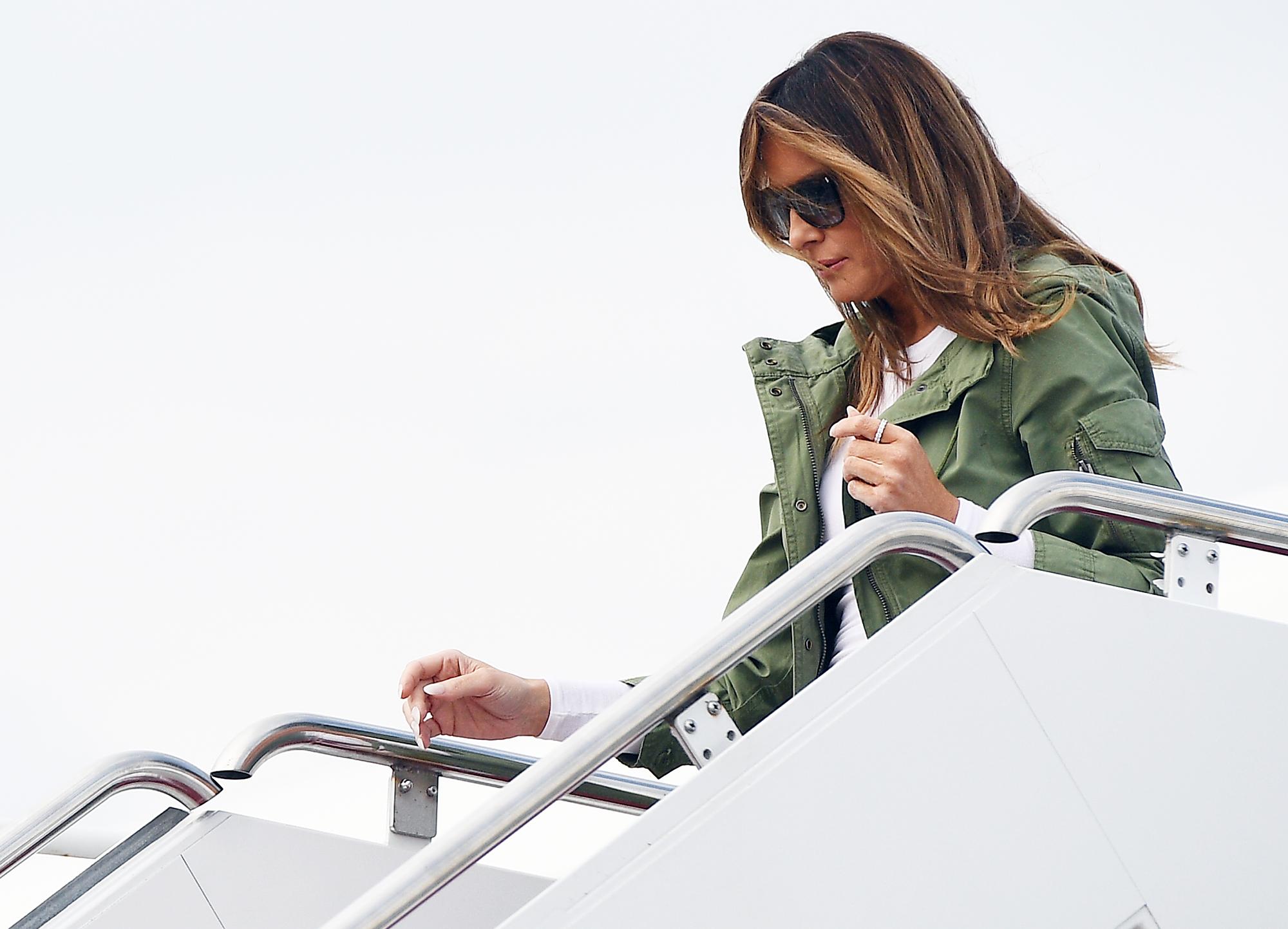 Melania Trump Jacket Reactions