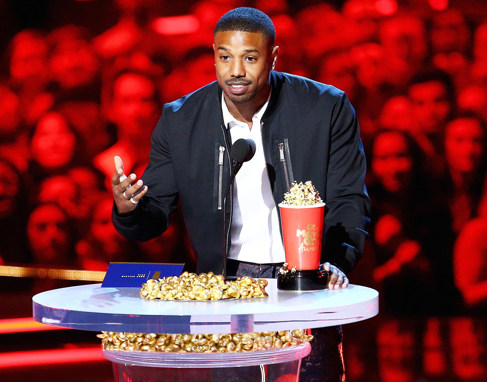 Michael B. Jordan Slams Roseanne MTV Movie Awards 2018