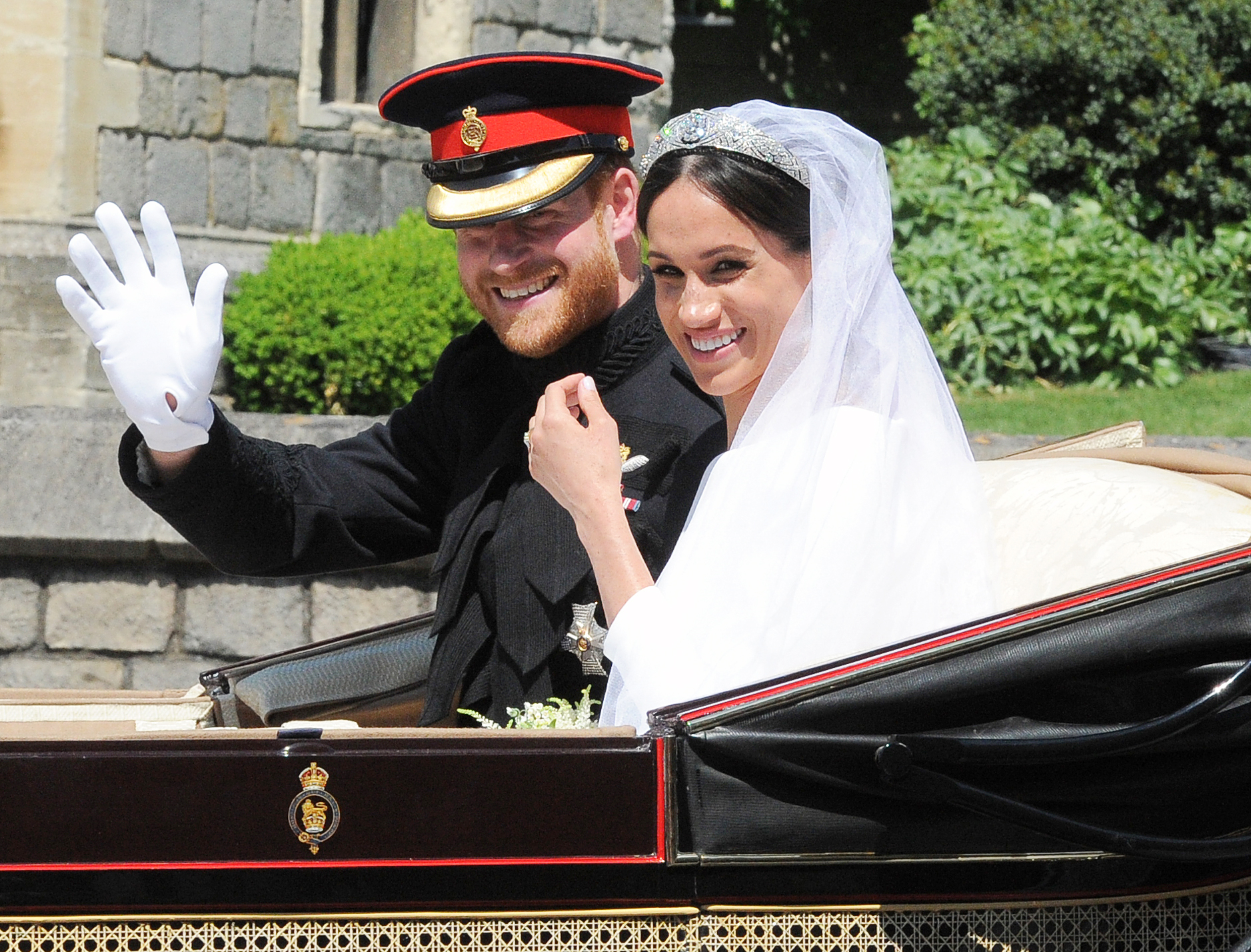 Duchess Meghan Happy Royal Wedding Over