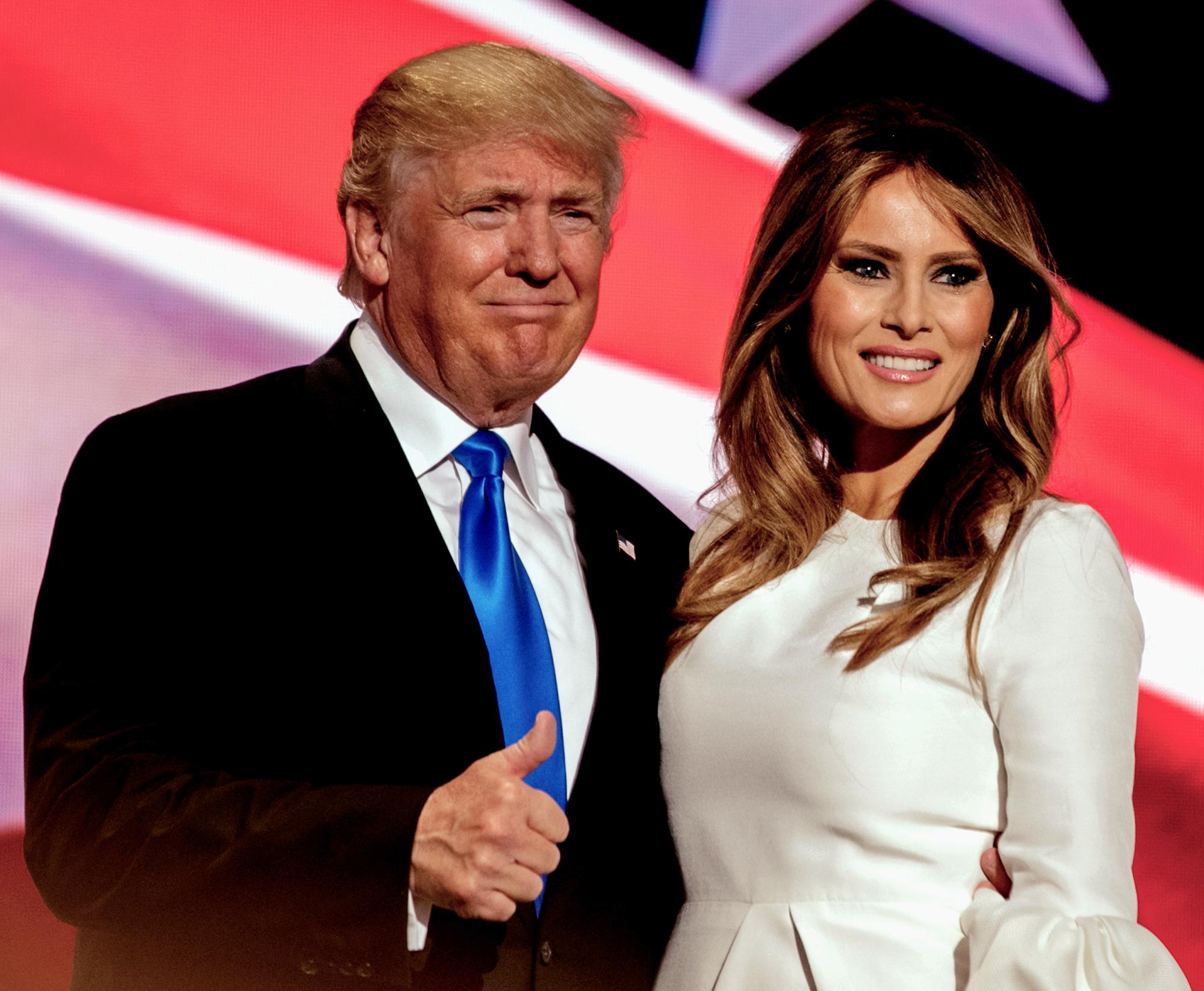 Donald Trump and his wife, Melania Trump