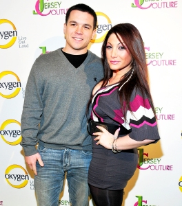 "Deena Nicole Cortese and Chris Buckner attend the ""Jersey Couture"" Season 2 launch at the Jersey Couture Pop-Up Beauty Bar in New York City."