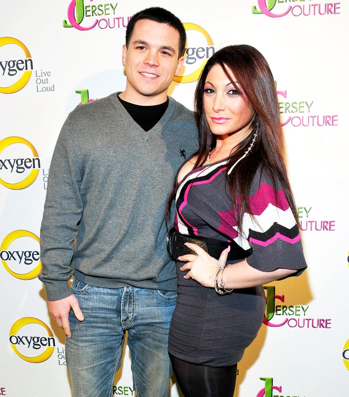 """Deena Nicole Cortese and Chris Buckner attend the """"Jersey Couture"""" Season 2 launch at the Jersey Couture Pop-Up Beauty Bar in New York City."""
