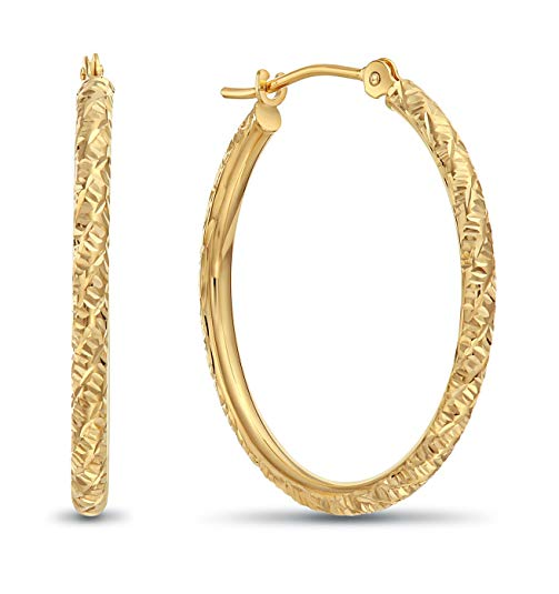 real gold hoop earrings