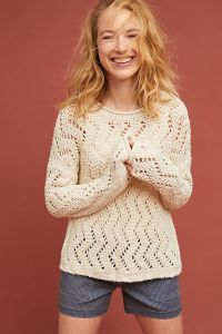 Sable Pointelle Pullover